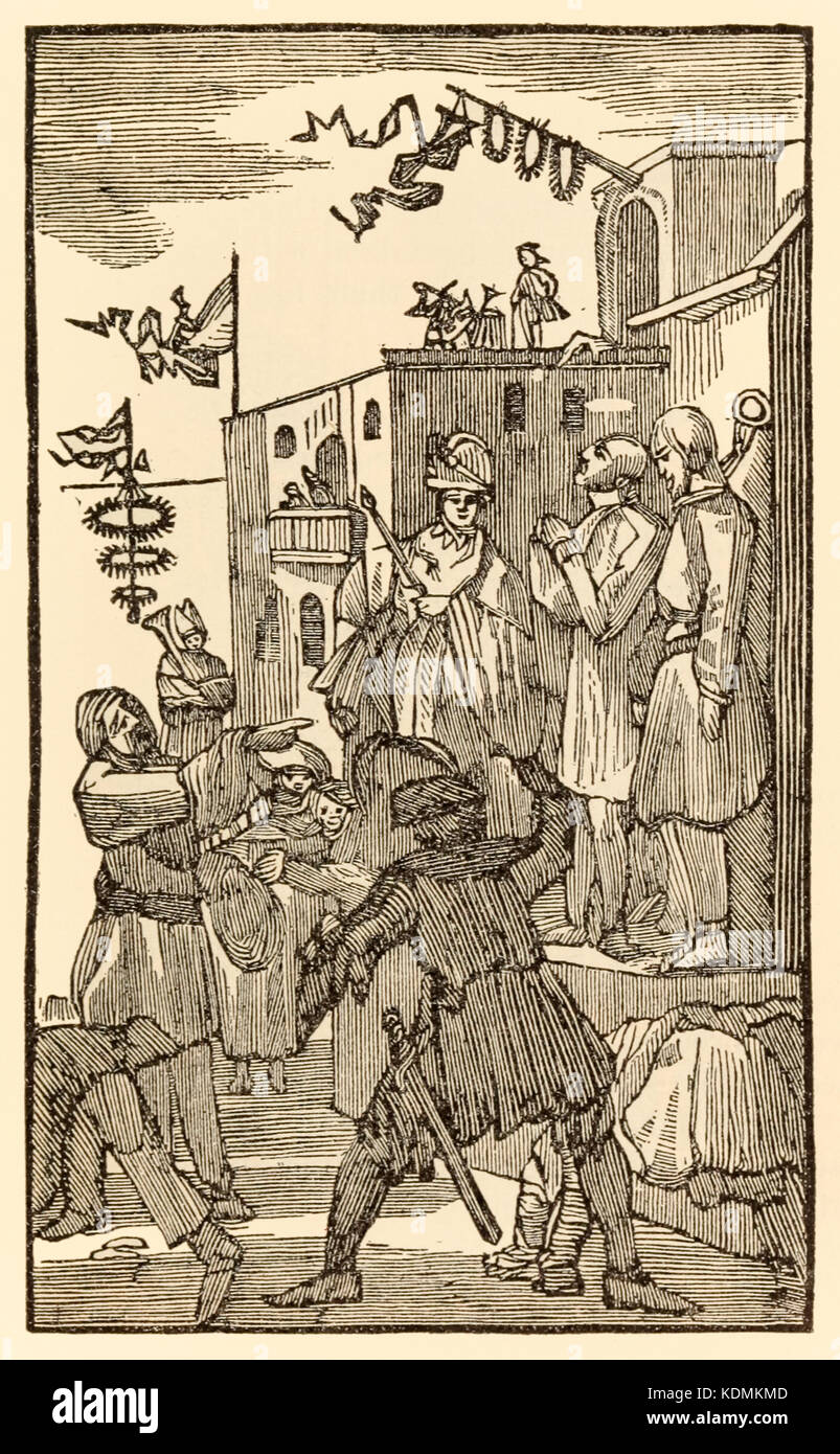 """""""Behold Vanity Fair!"""" from 'The Pilgrim's Progress From This World, To That Which Is To Come' by John Bunyan (1628 - Stock Image"""