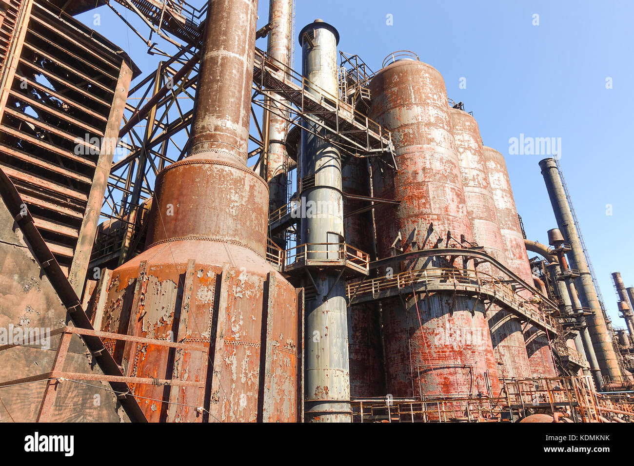 The Bethlehem Steel Stacks Stock Photos and Images