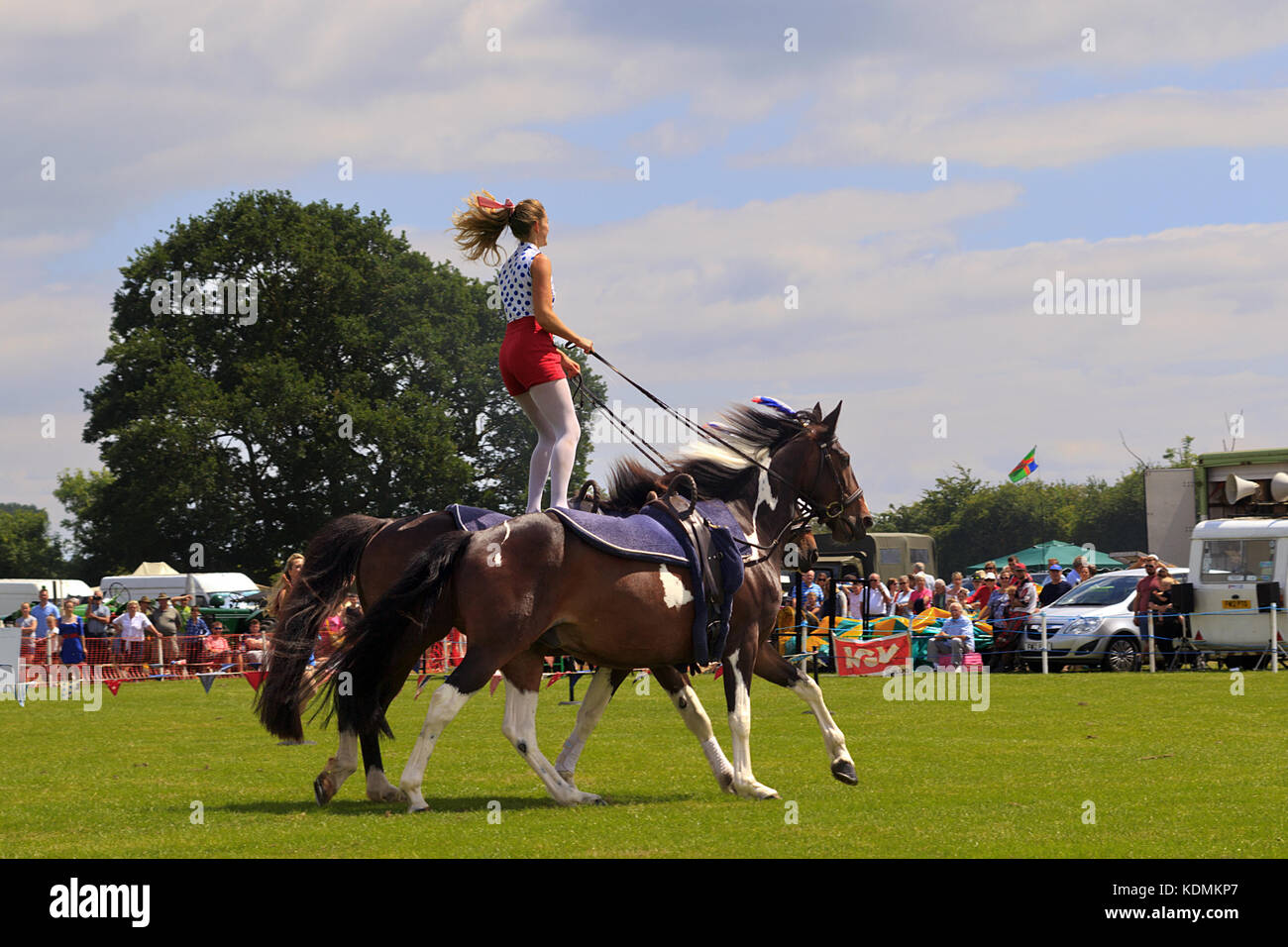 Horse Riding display at the Wrangle Country Show - Stock Image
