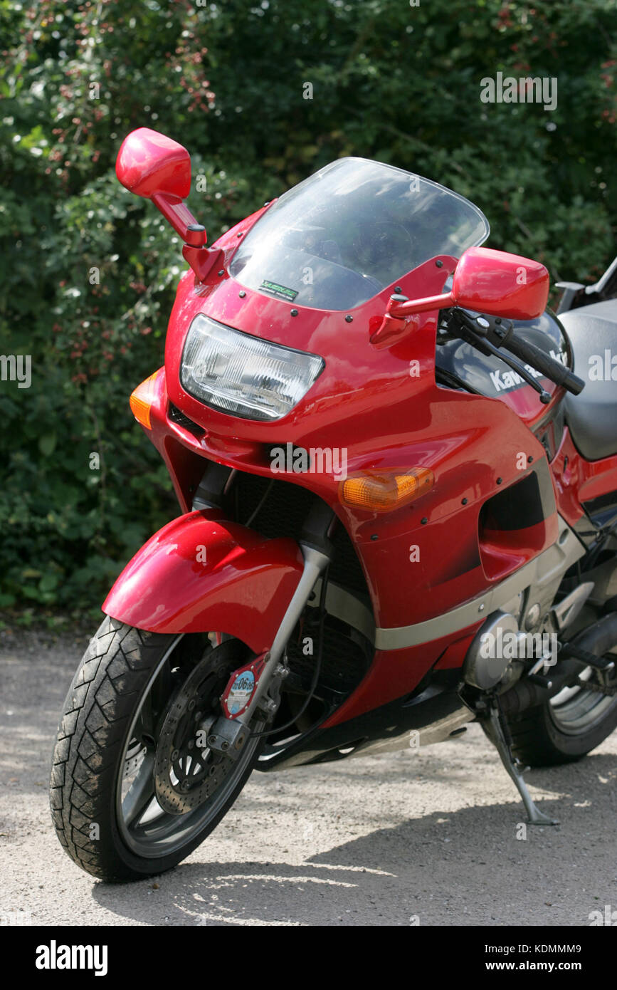Kawasaki ZZR 600 motorcycle motorbike. - Stock Image