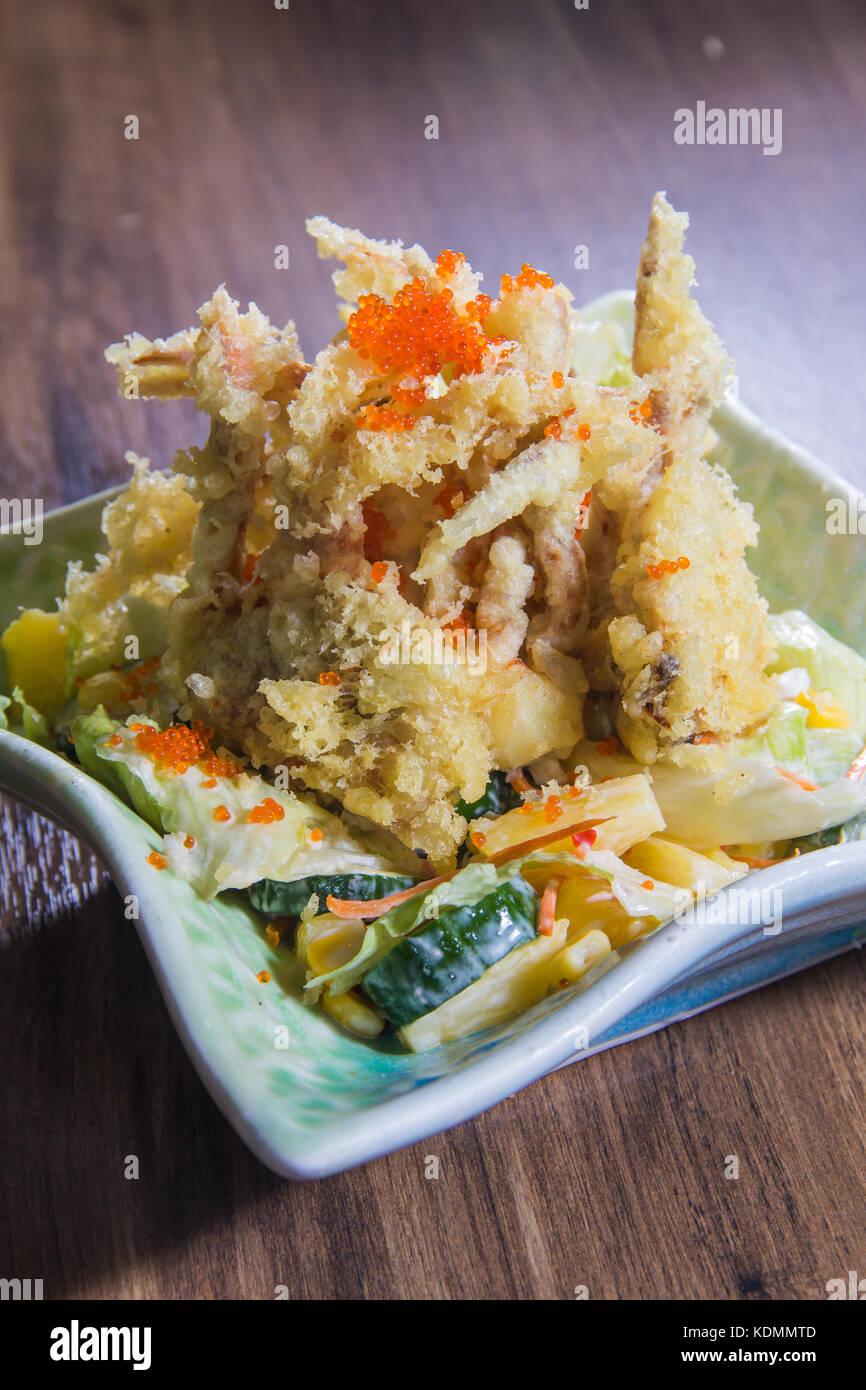 deep fried fish - Stock Image
