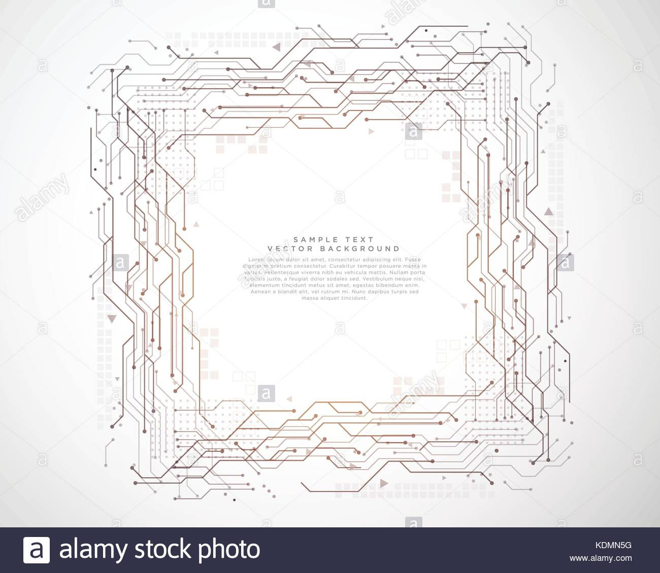 digital geometric circuit board lines and point technology ...