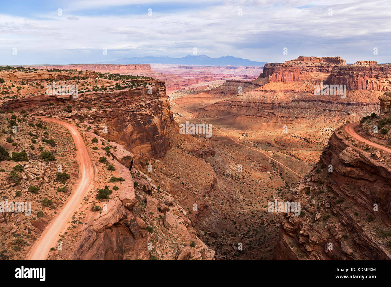 Shafer Trail road in Canyonlands national park, Moab Utah USA - Stock Image