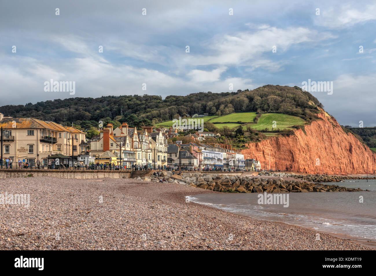 Sidmouth, Devon, England, United Kingdom - Stock Image