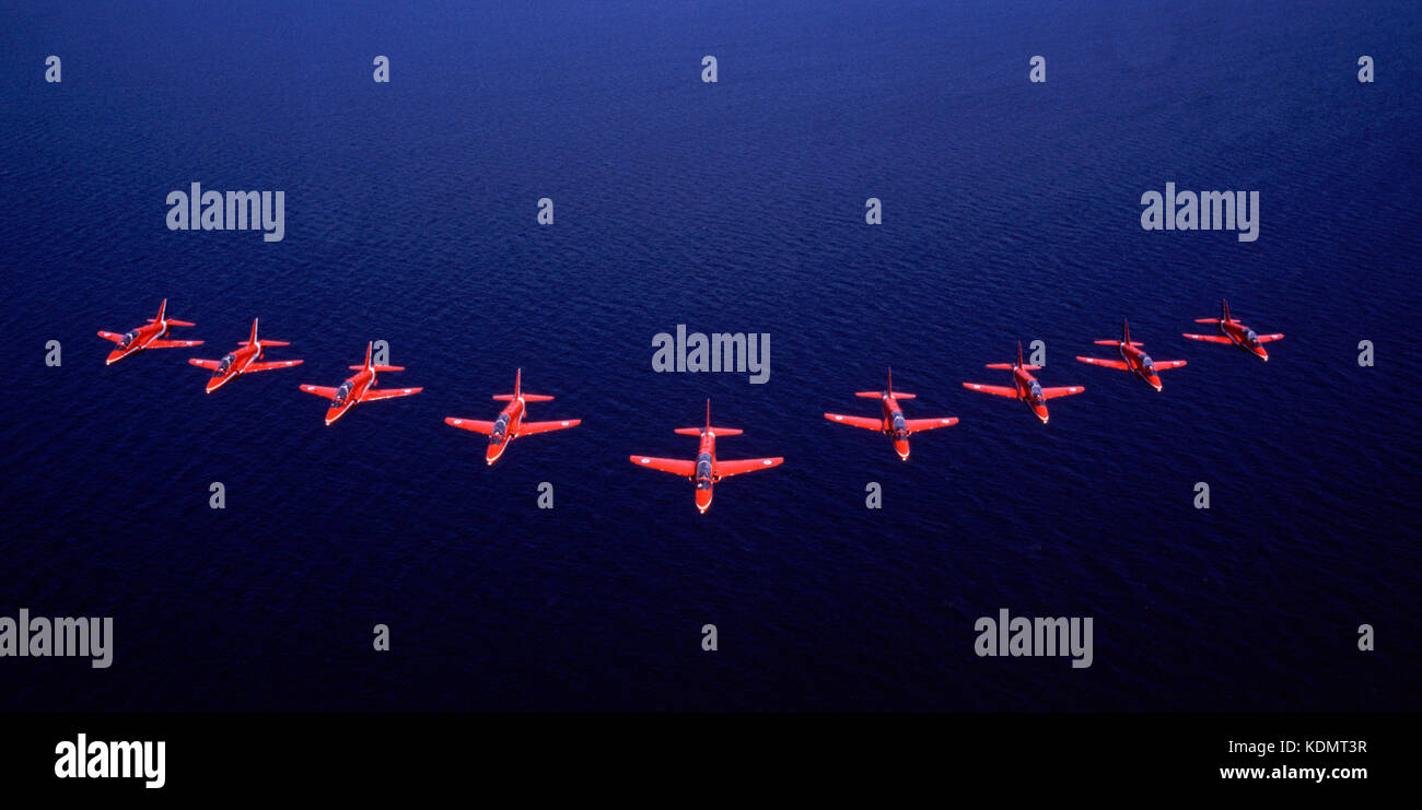 The Red Arrows (RAF Aerobatic team) - Stock Image