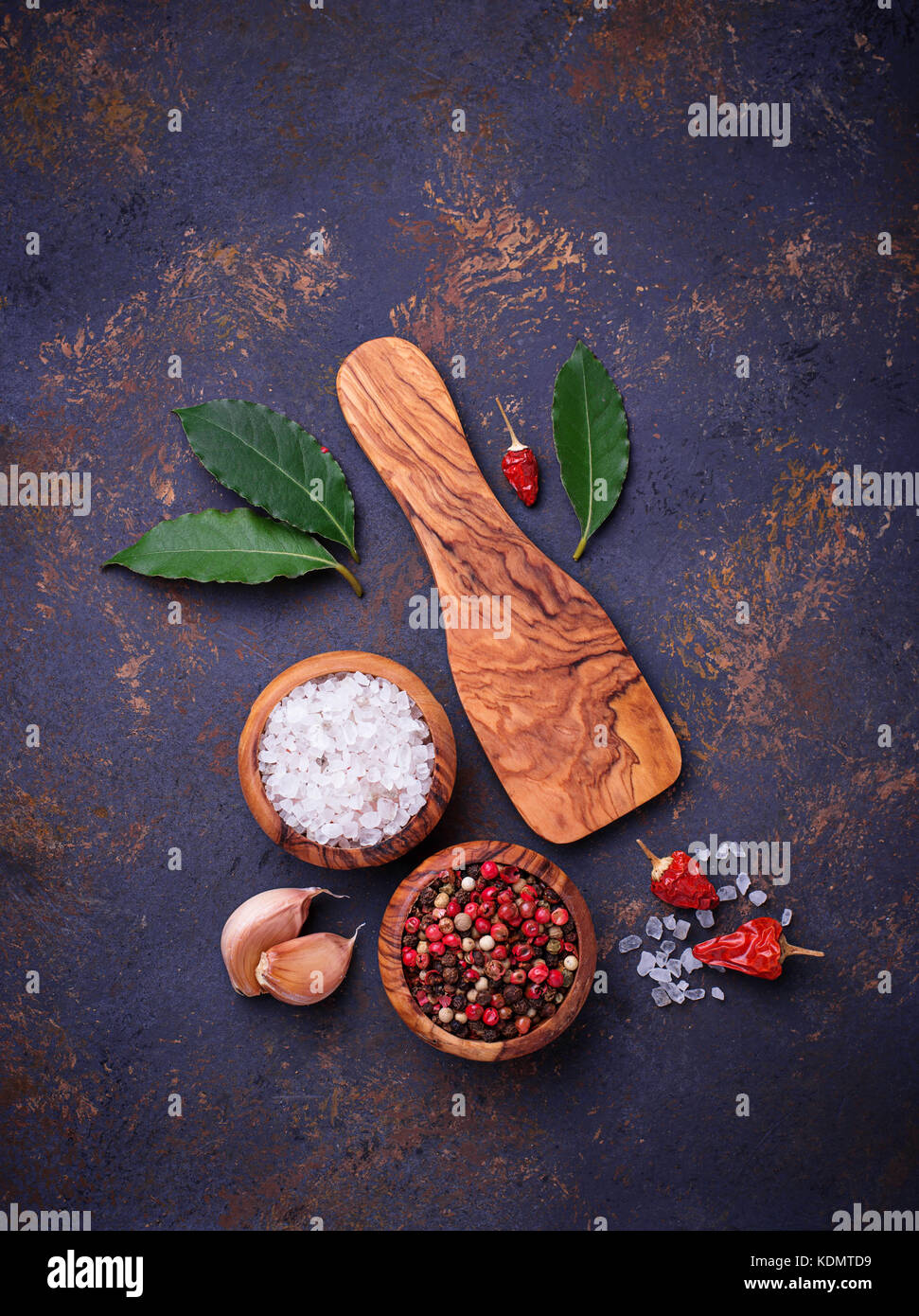 Herbs and spices. Culinary background - Stock Image