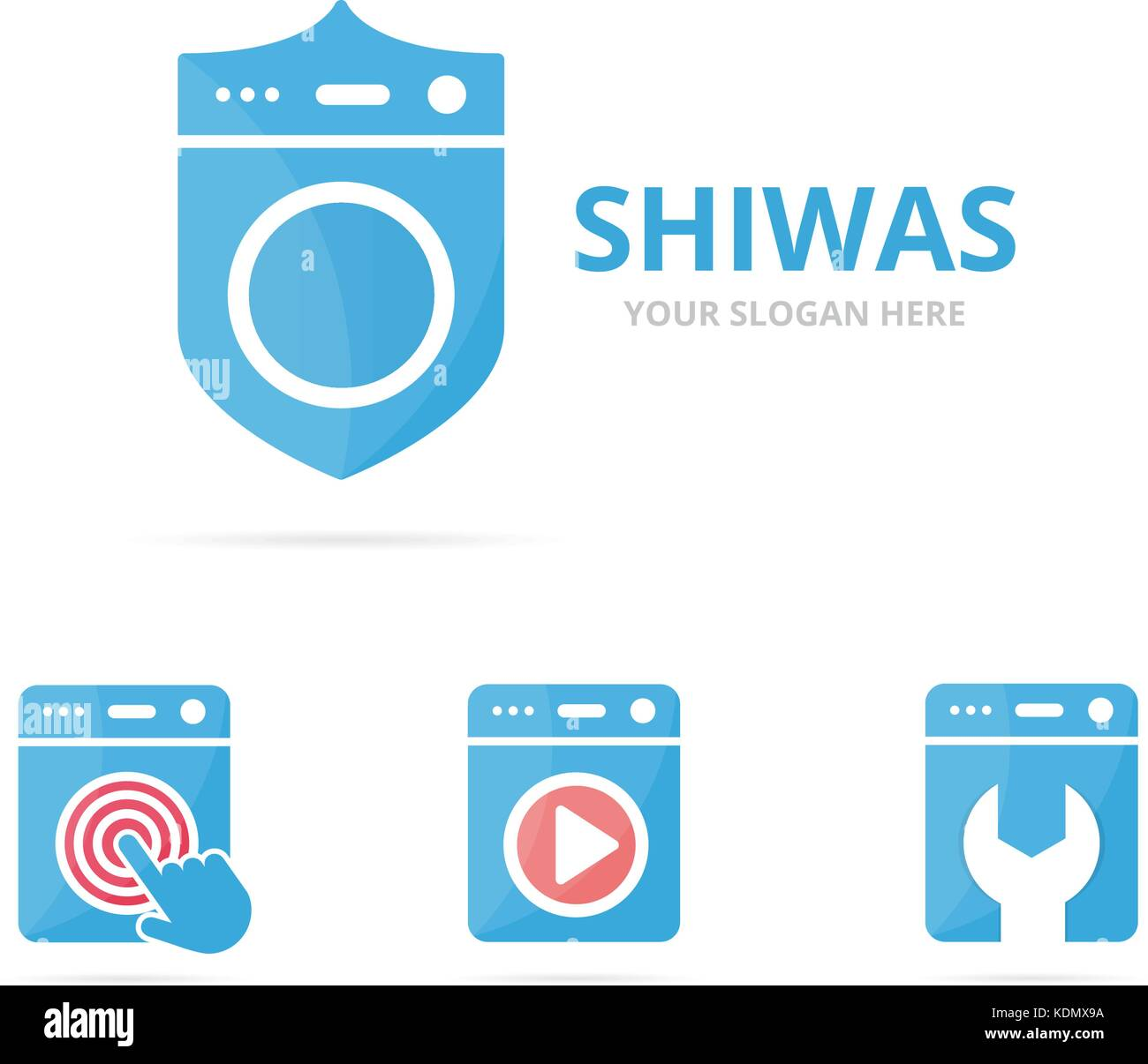 set of laundry logo combination washing machine and security symbol stock vector image art alamy alamy