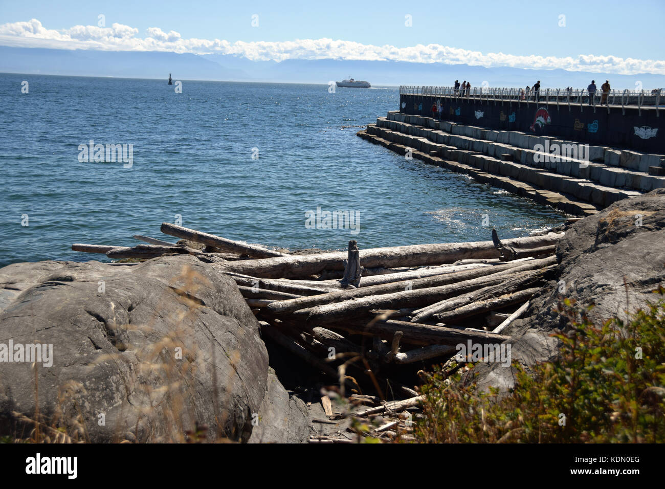 View from the Victoria, BC, Canada waterfront (Vancouver Island) - Stock Image