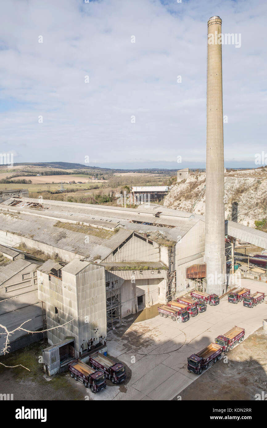 Shoreham Cement Works - Stock Image