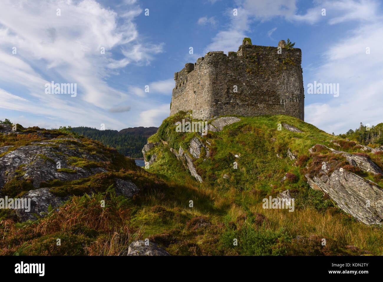 Castle Tioram Loch Moidart Argyll Scotland - Stock Image