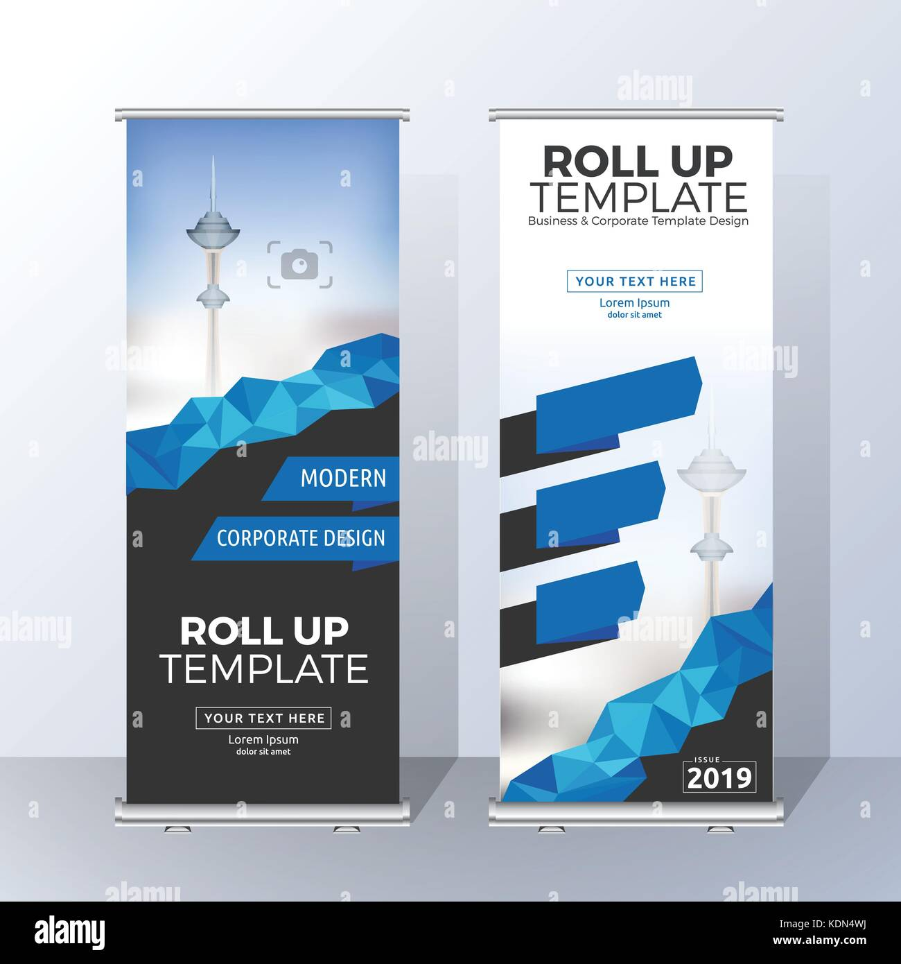Marketing Exhibition Stand Vector : Vertical roll up banner template design for announce and