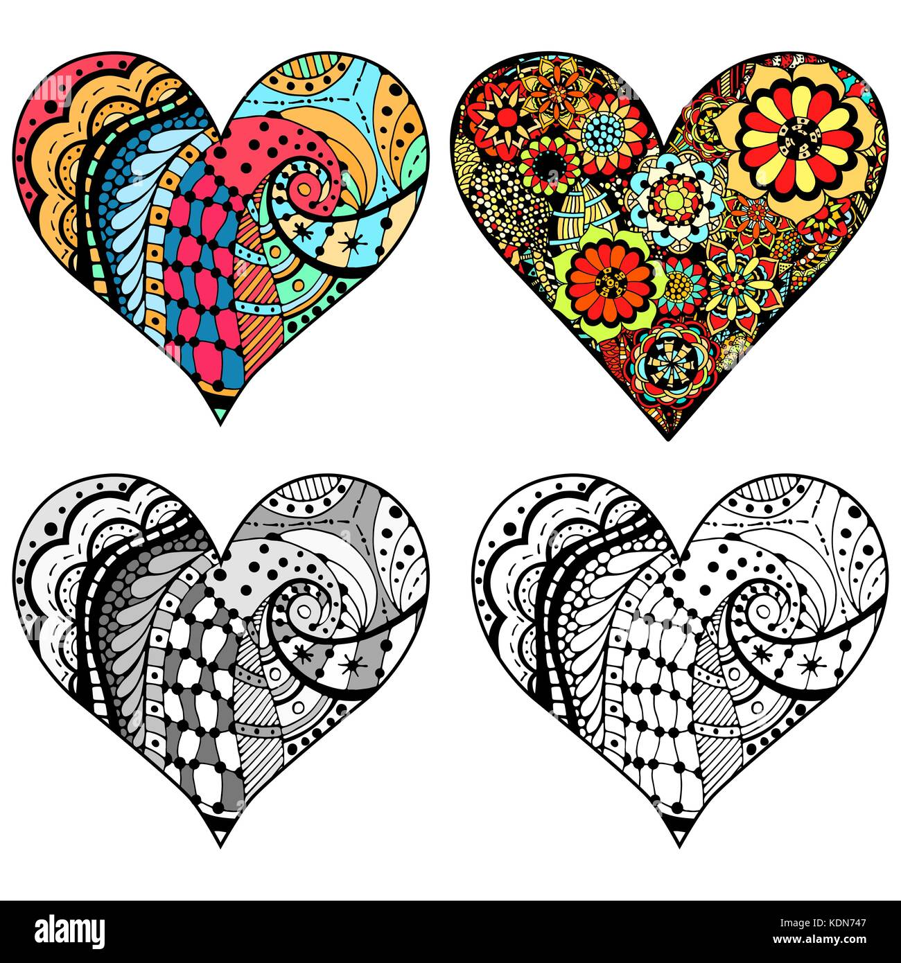 Heart zentangle coloring page | Mandala coloring pages, Coloring ... | 1390x1300