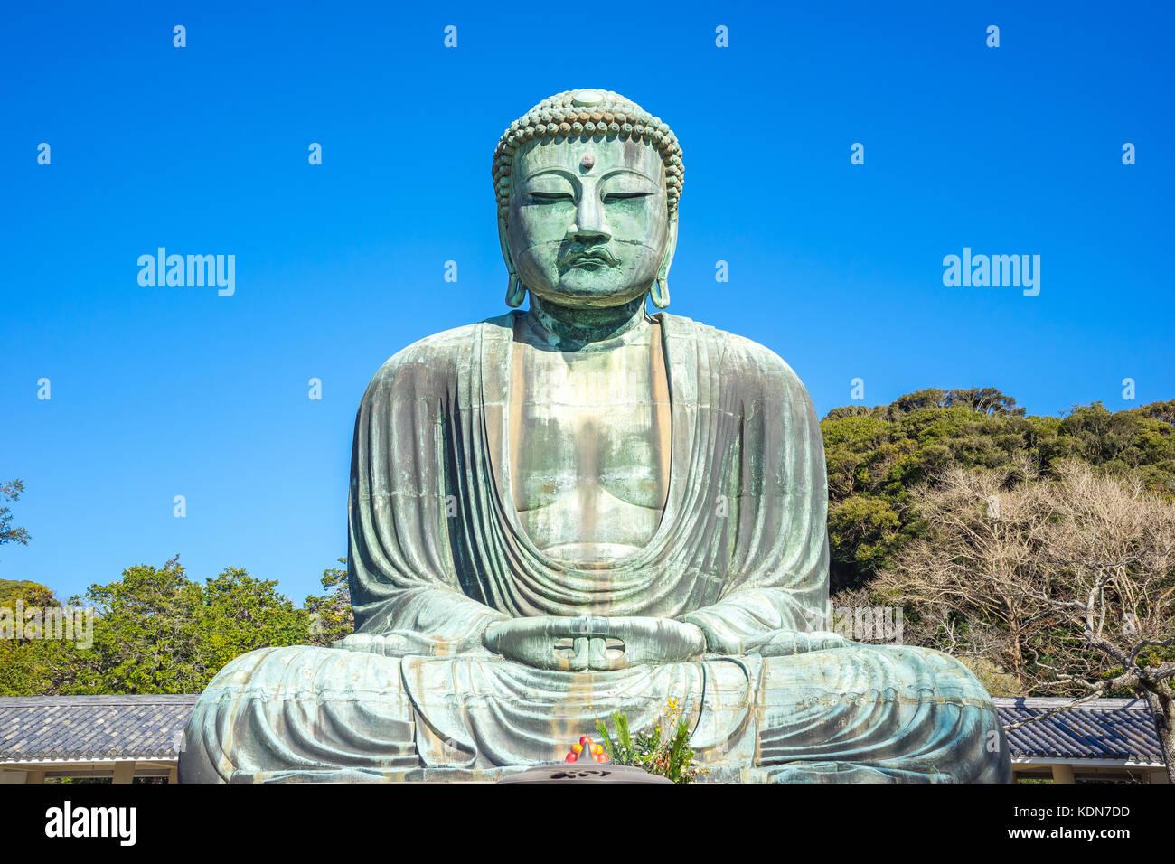Daibutsu the great buddha at kotokuin temple in Kamakura, Kanagawa Prefecture, Japan. - Stock Image