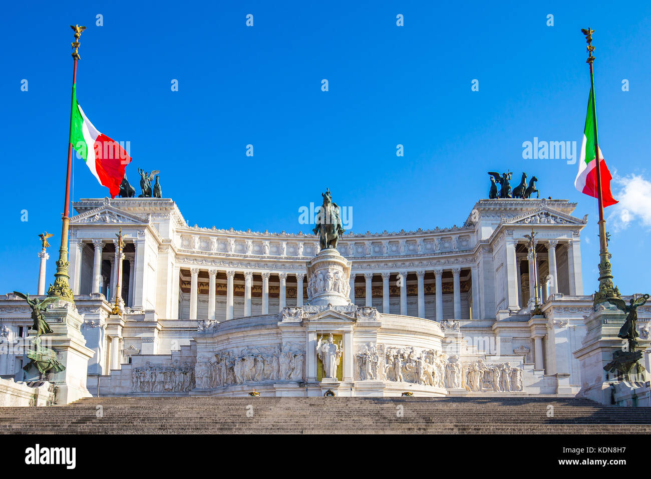 The Altar of the Fatherland landmark in Rome, Italy. - Stock Image