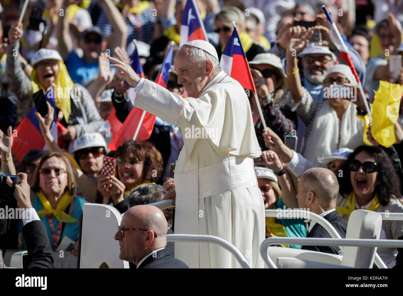Vatican City, Vatican. 14th Oct, 2017. Pope Francis attends an audience to the Vincentian Family (Saint Vincent - Stock Image
