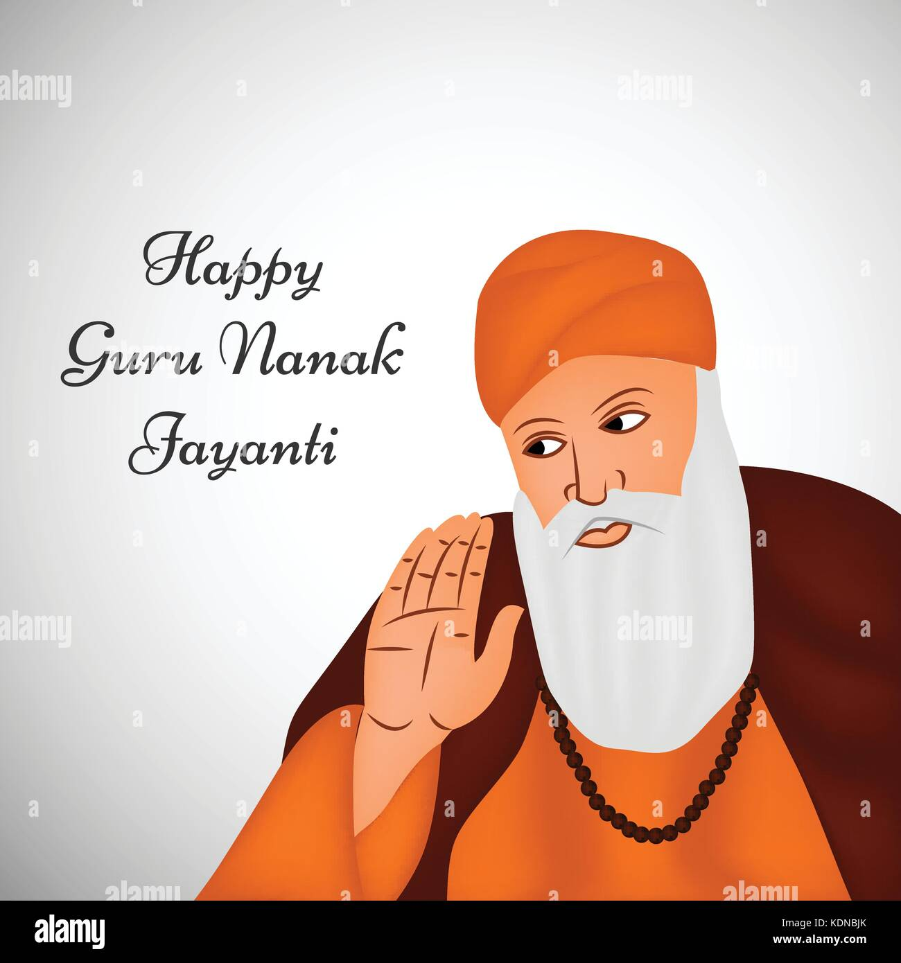illustration of Sikh festival Guru Nanak Jayanti Background - Stock Vector