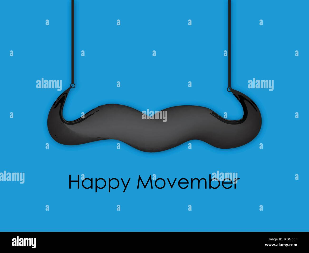 illustration of elements of Movember background - Stock Vector