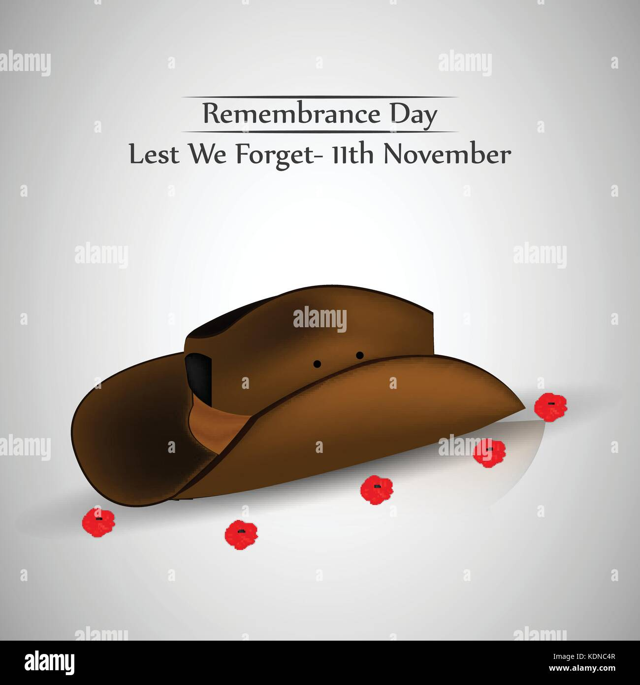 illustration of elements of Remembrance Day background - Stock Vector