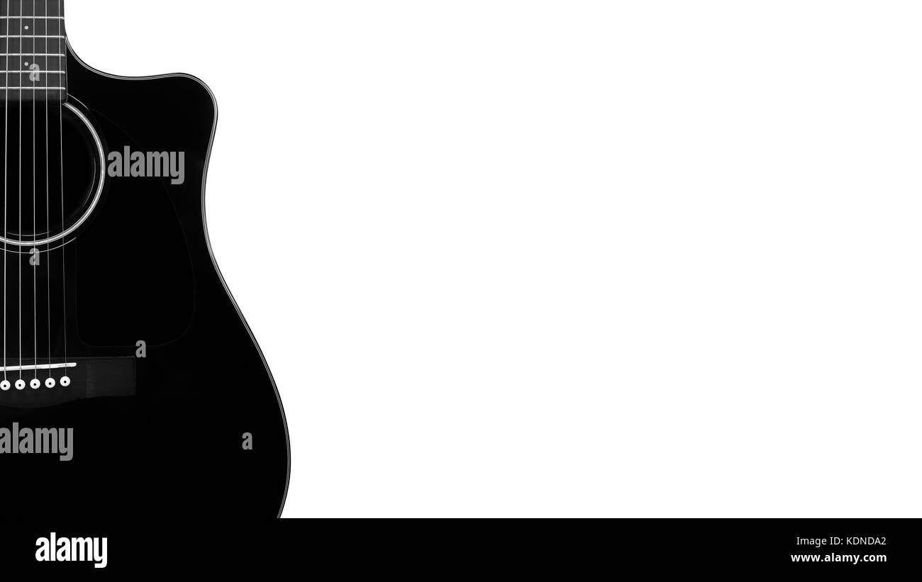 Acoustic Guitar White Background Black And White Stock Photos