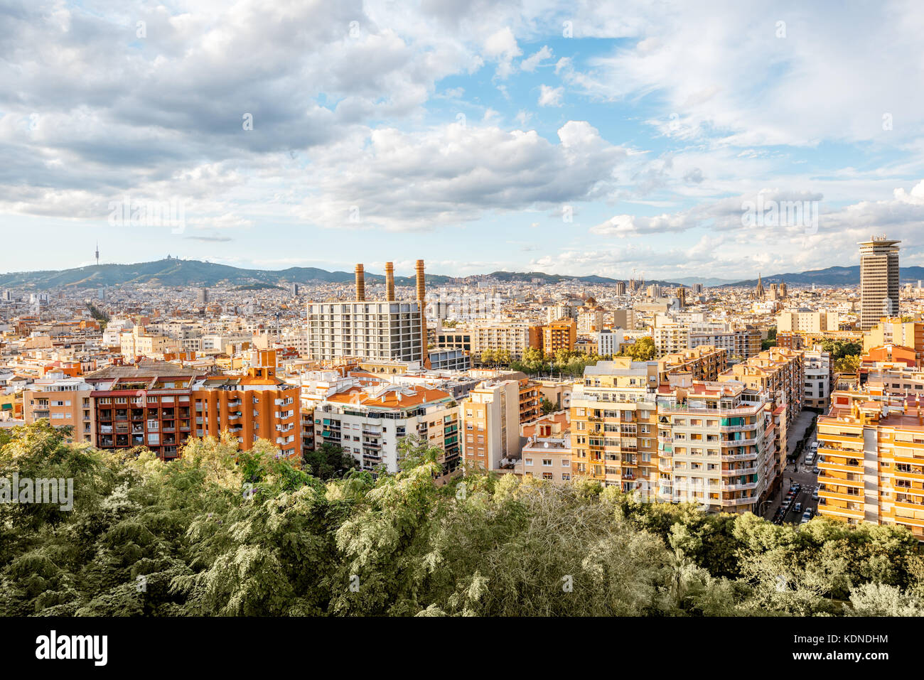 Barcelona city view - Stock Image