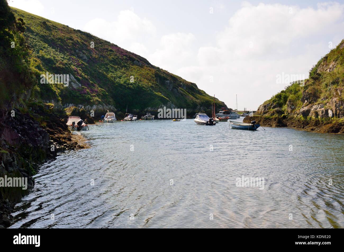 Porth Clais Harbour Stock Photo