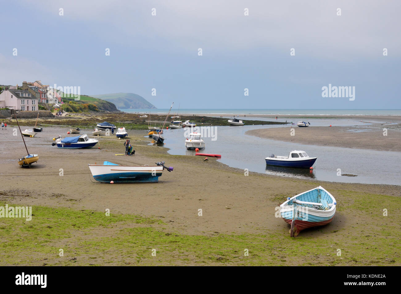 The Parrog Beach Stock Photo