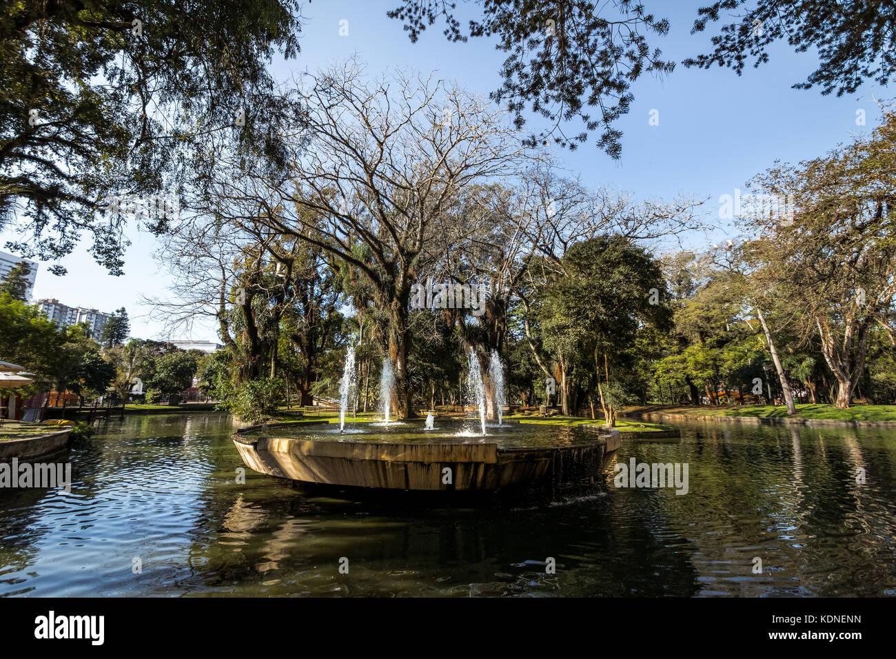Passeio Publico Park - Curitiba, Parana, Brazil - Stock Image