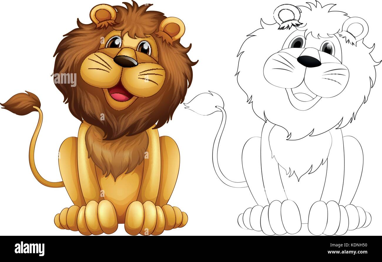Lion Cartoon Outline Images – Lion cartoon 1 of 1266.