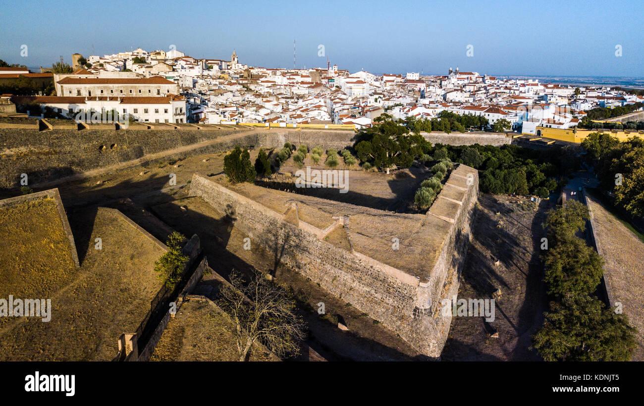 The Equina Gate, Castle of Elvas, Alentejo, Portugal Stock Photo