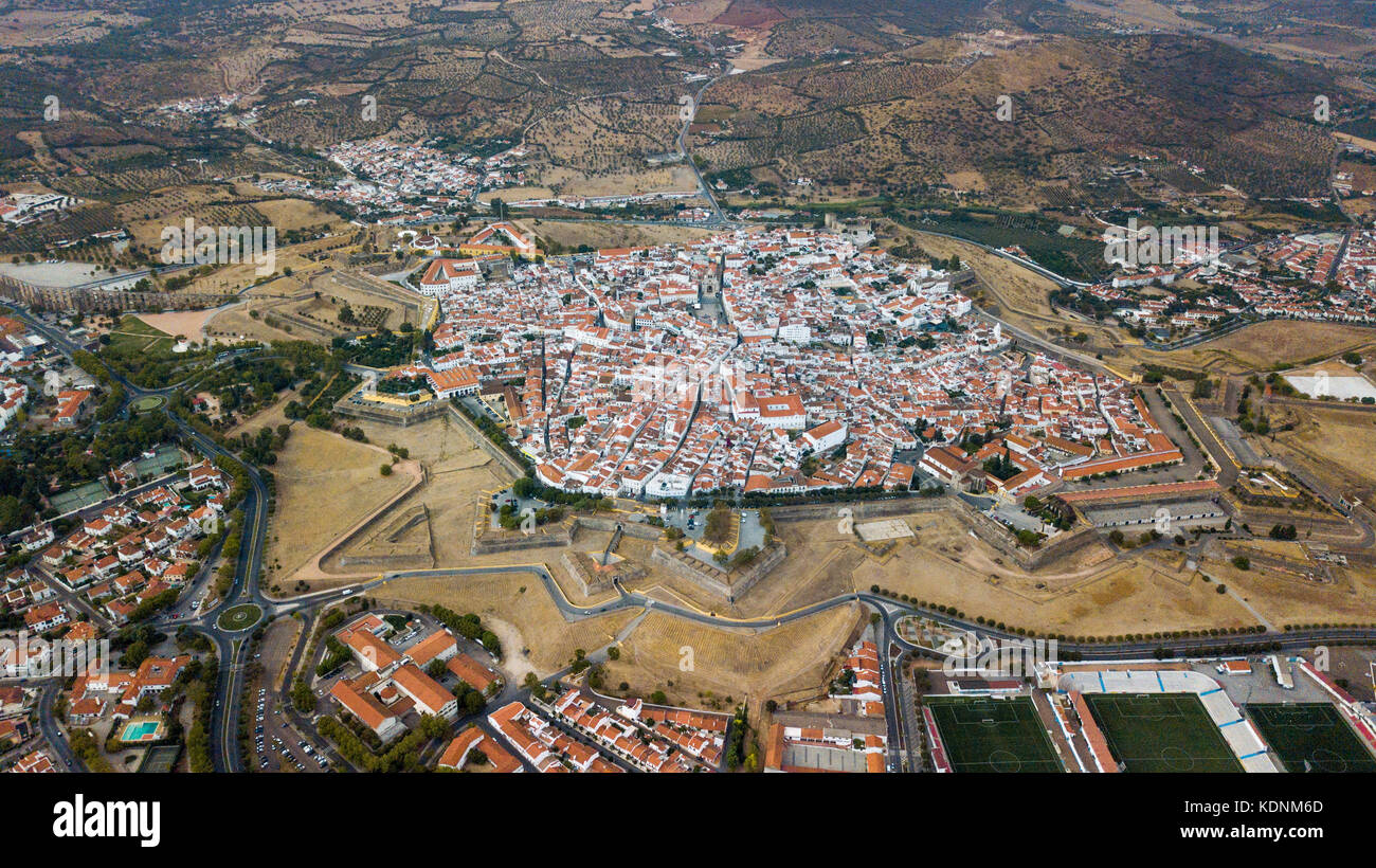 Bastian Fort, City Walls, Castle of Elvas, Portugal Stock Photo