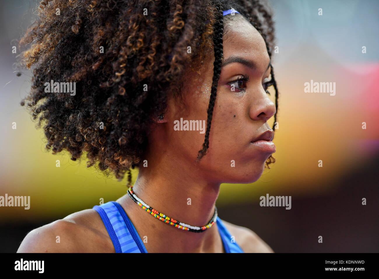 Vashti Cunningham - High Jump - IAAF World Championships London 2017 - Stock Image