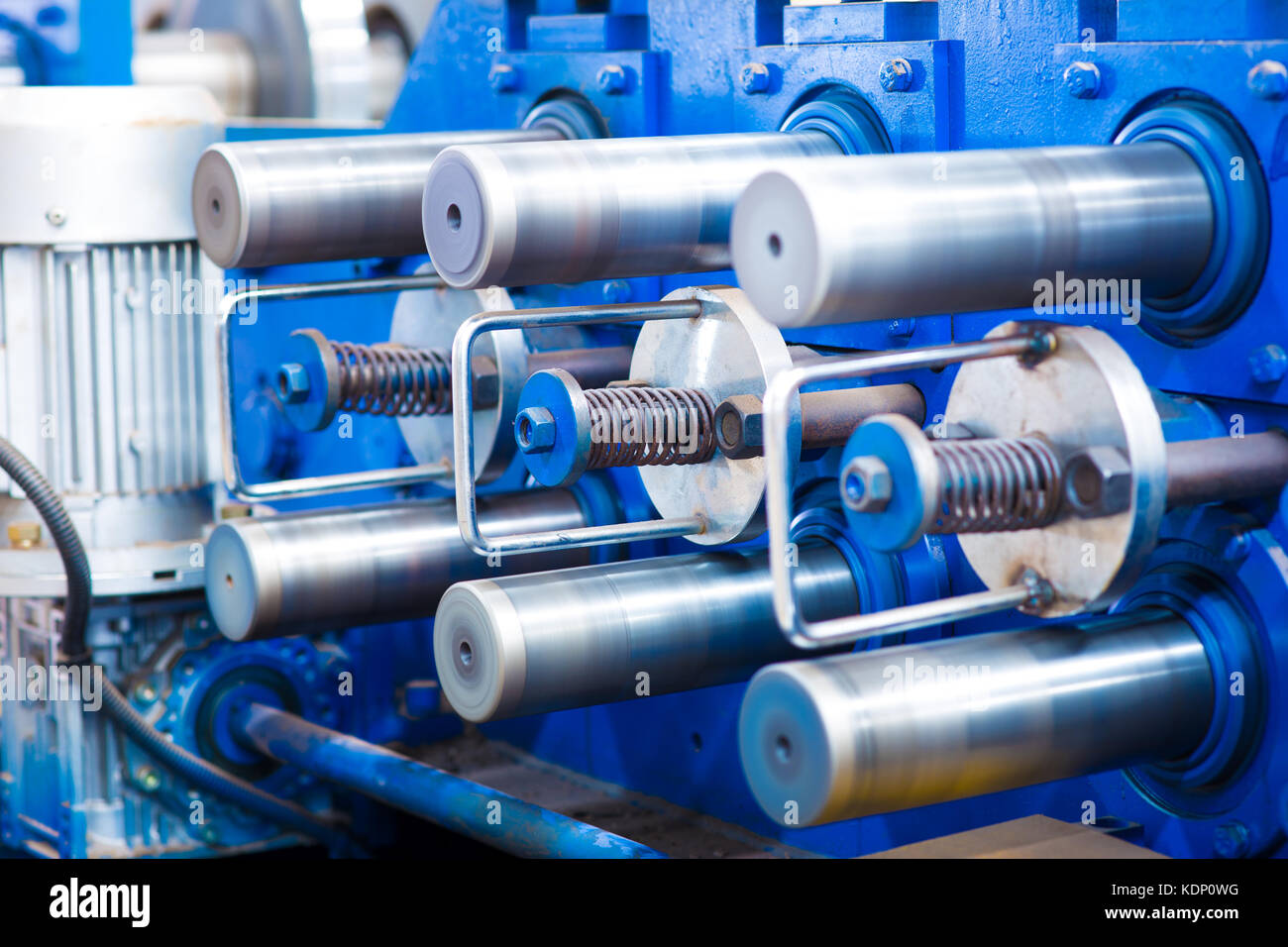 machine for slitting/cutting/stripping steel sheet - Stock Image