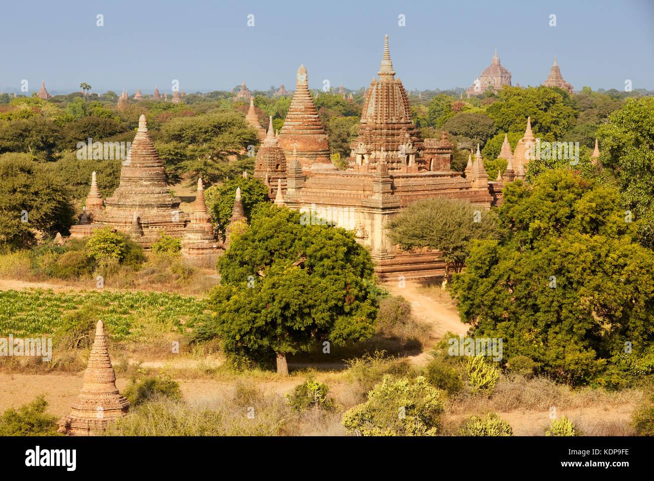 Northeast Temples, Bagan (Pagan), Myanmar (Burma), Southeast Asia - Stock Image
