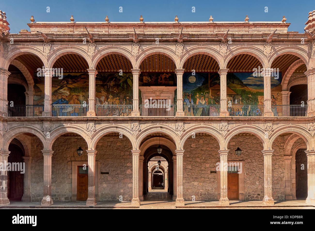 The Palacio de Gobierno de Michoacan in Morelia, Mexico. - Stock Image