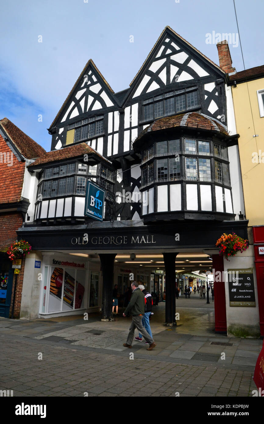 View of Salisbury city centre, shopping streets - Stock Image