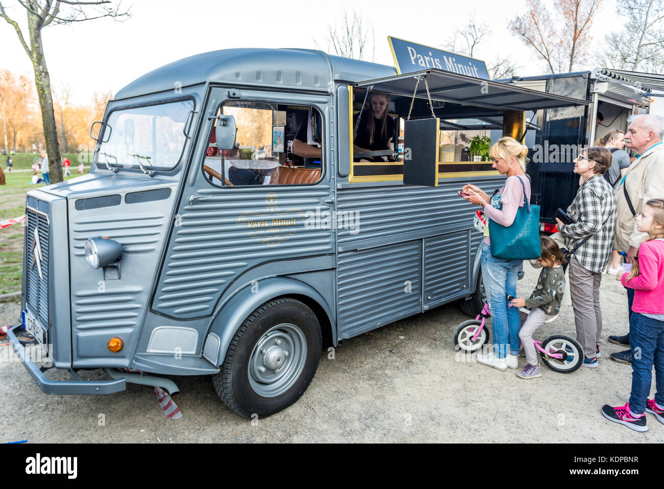 Old Citroen H Van With French Pancakes For Sale During Food Truck Stock Photo Alamy