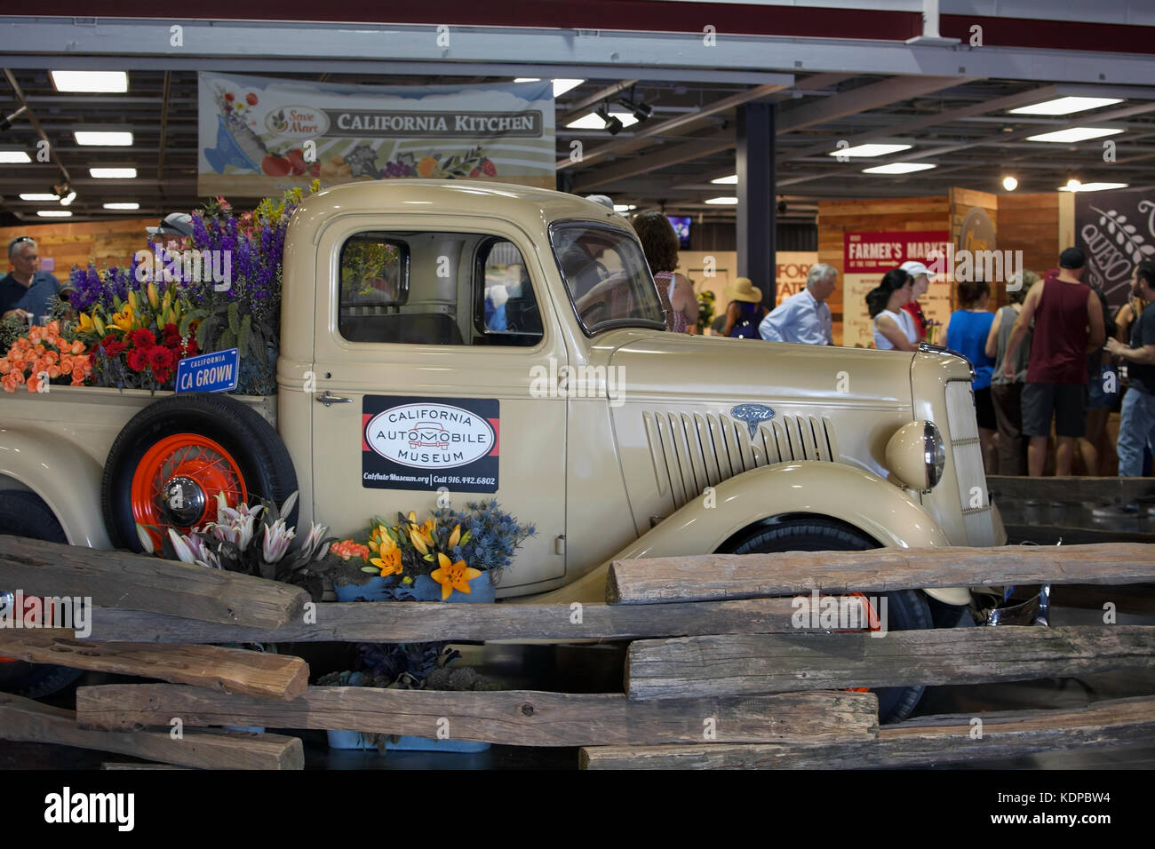 Sacramento, California, U.S.A. 23 July 2017. Antique Ford Truck displayed the California State Fair at Cal Expo. - Stock Image