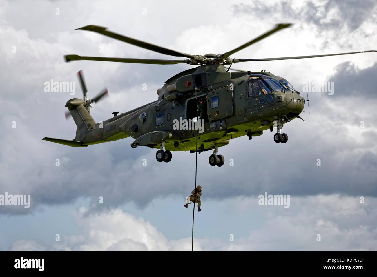 AgustaWestland Merlin HC.3  ZJ130 C/N 50169 - Stock Image