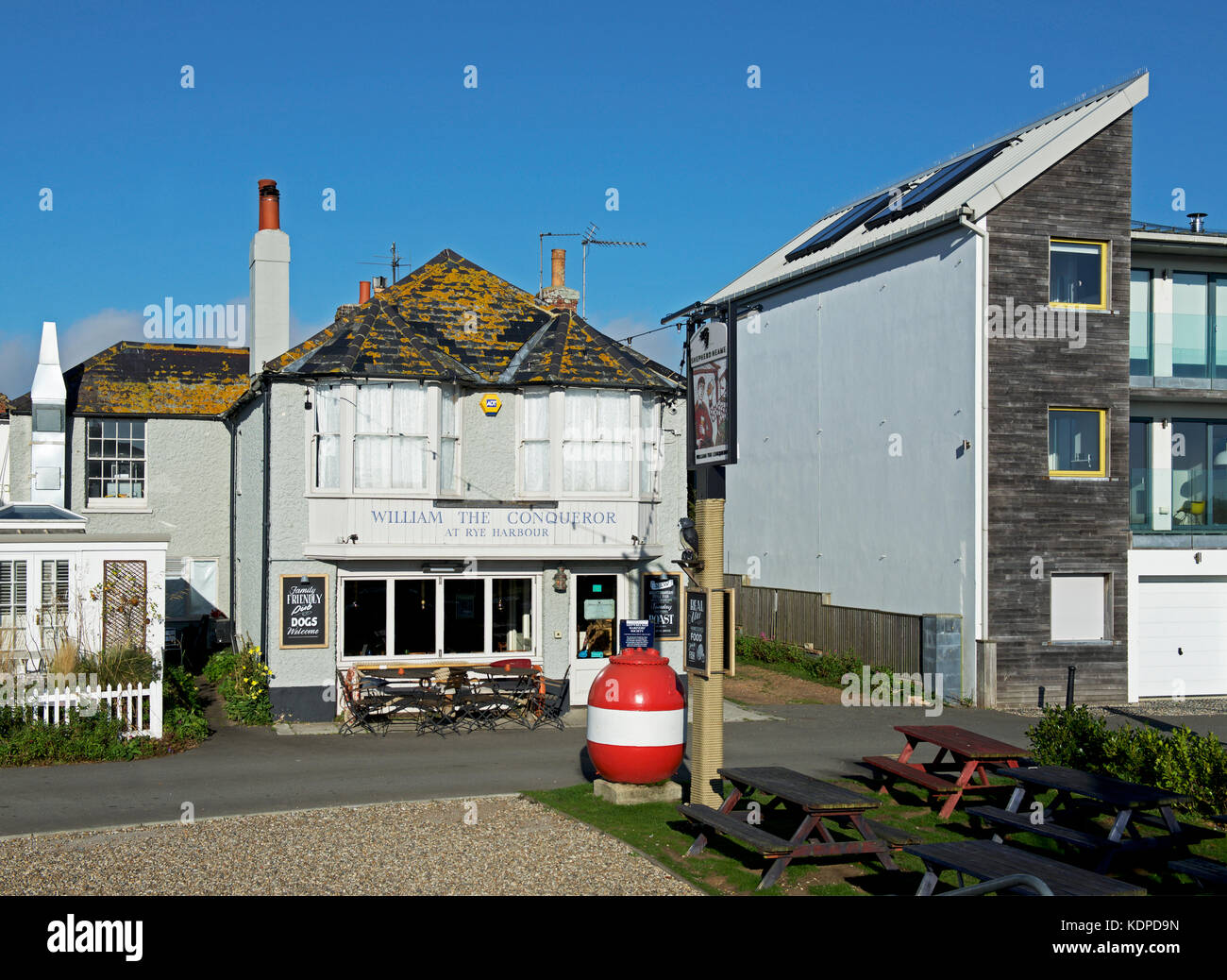 Pub - William the Conqueror - at Rye Harbour, East Sussex, England UK - Stock Image