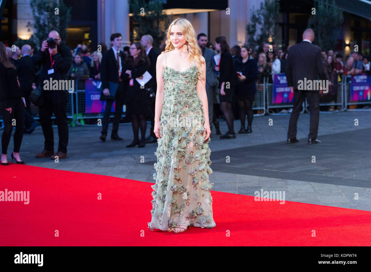 London, London, UK. 15th Oct, 2017. Kathryn Newton attends the Three Billboards Outside Ebbing Missouri Film UK Stock Photo