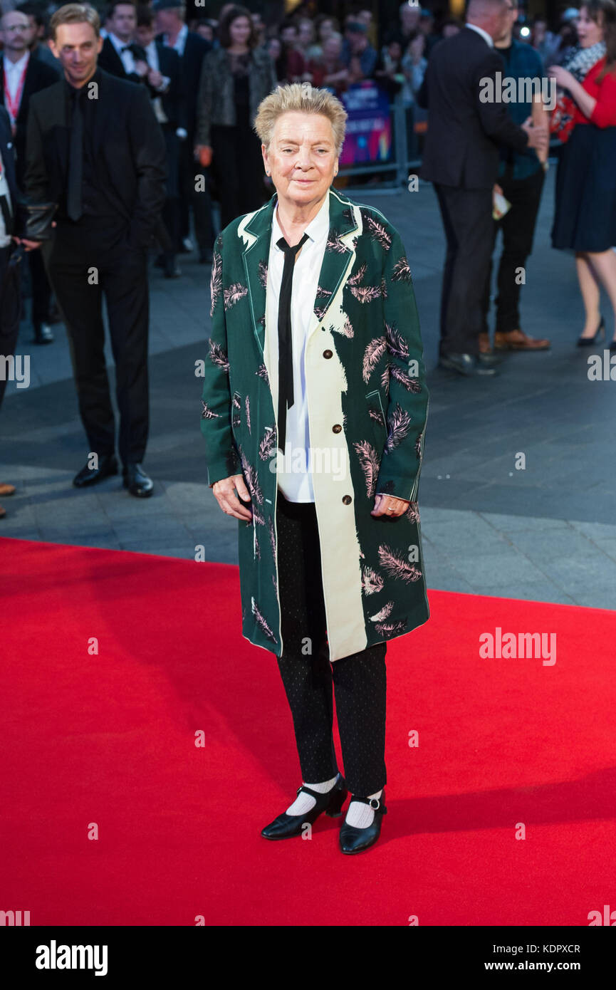 London, UK. 15th October 2017. Sandy Martin arrives for the UK film premiere of 'Three Billboards Outside Ebbing, - Stock Image
