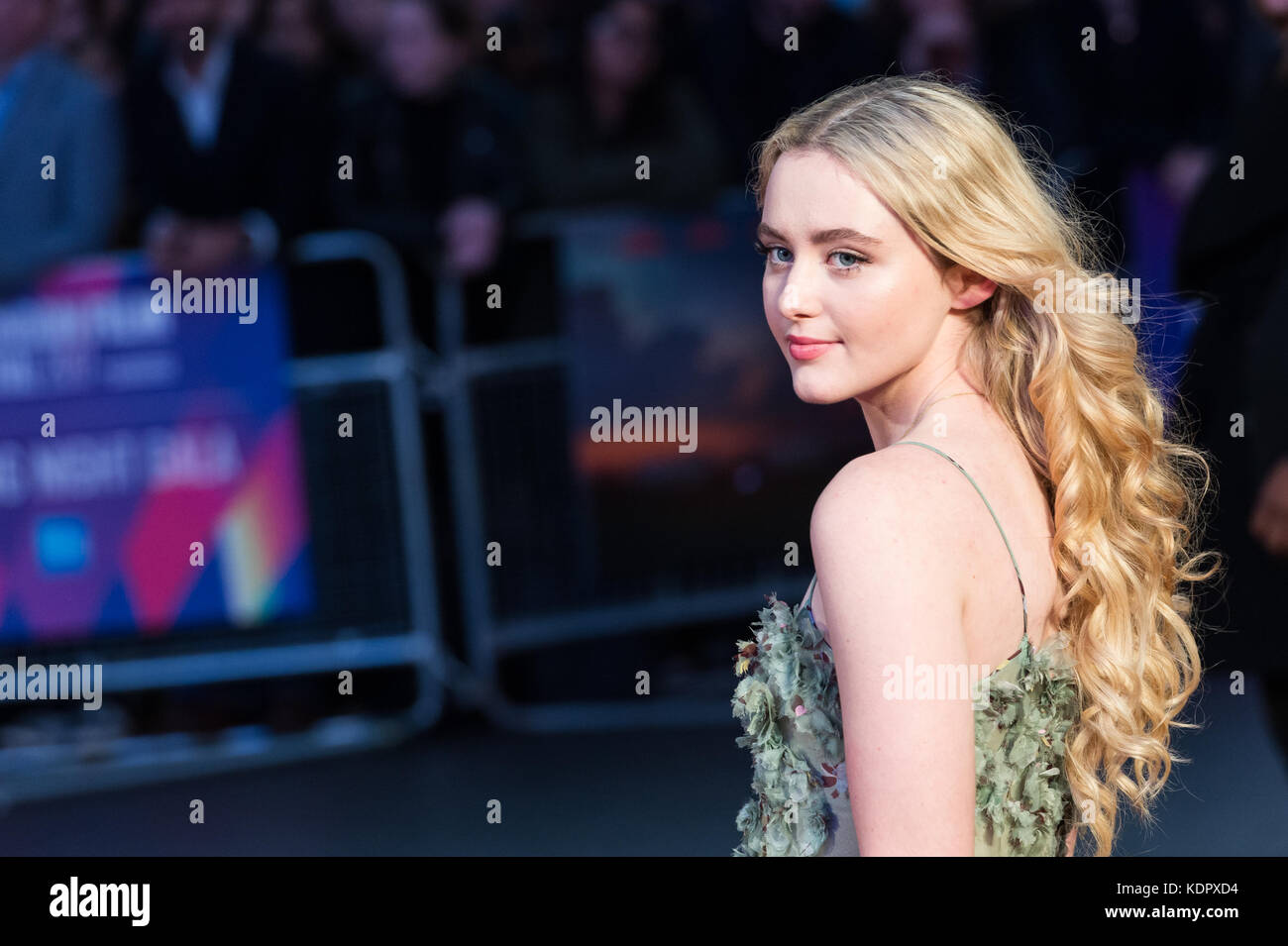 London, UK. 15th October 2017. Kathryn Newton arrives for the UK film premiere of 'Three Billboards Outside - Stock Image