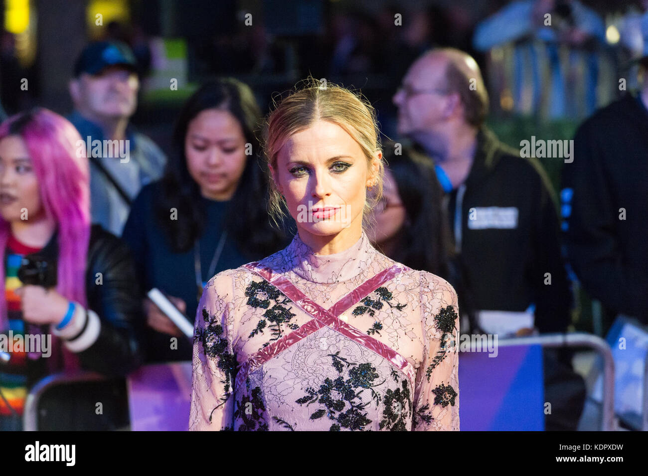 London, UK. 15th October 2017. Laura Bailey arrives for the UK film premiere of 'Three Billboards Outside Ebbing, - Stock Image