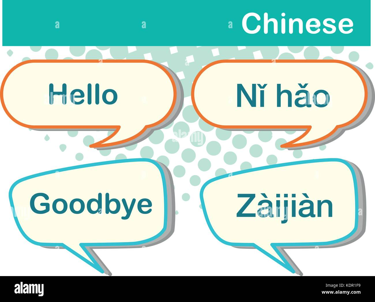 Greeting words in chinese language illustration stock vector art greeting words in chinese language illustration m4hsunfo