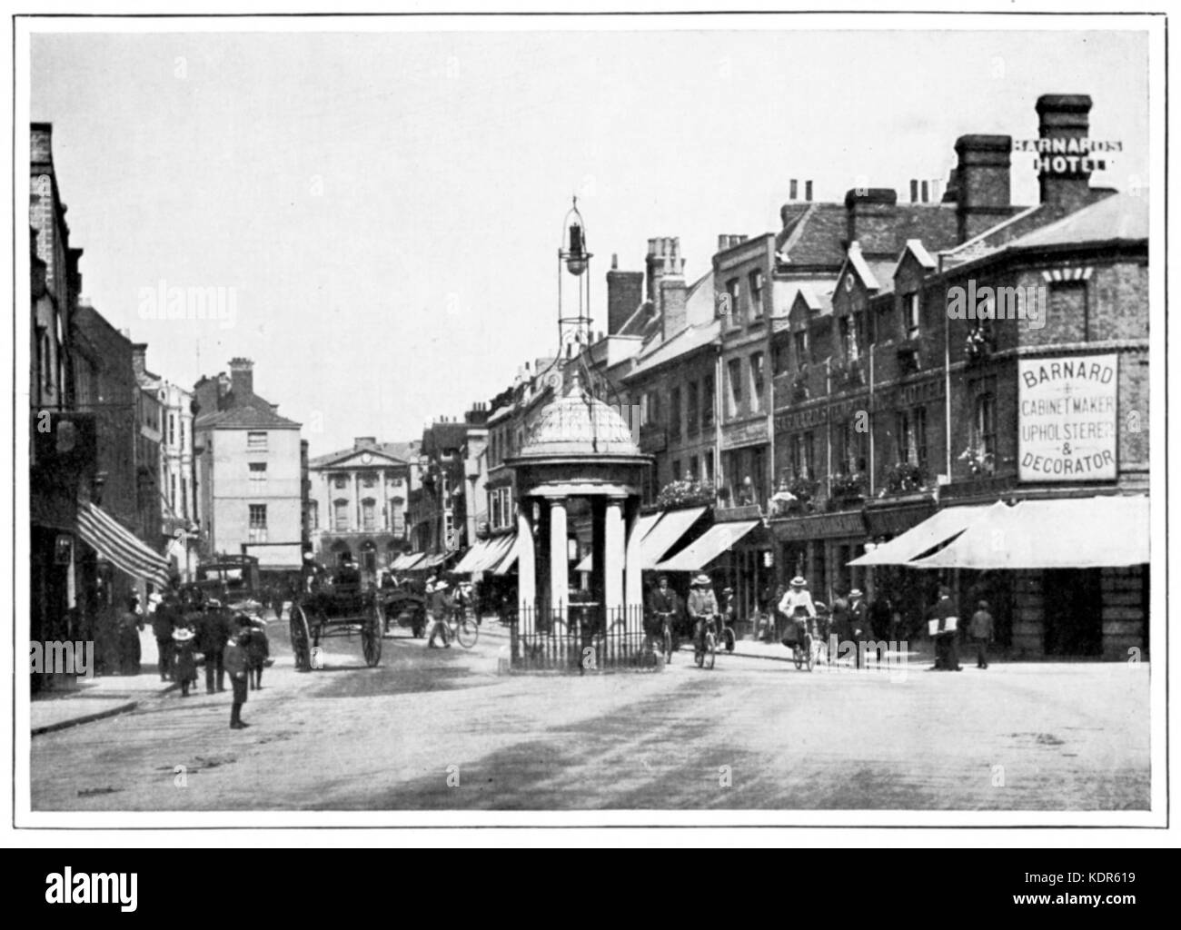 Chelmsford High Street in 1900 - Stock Image