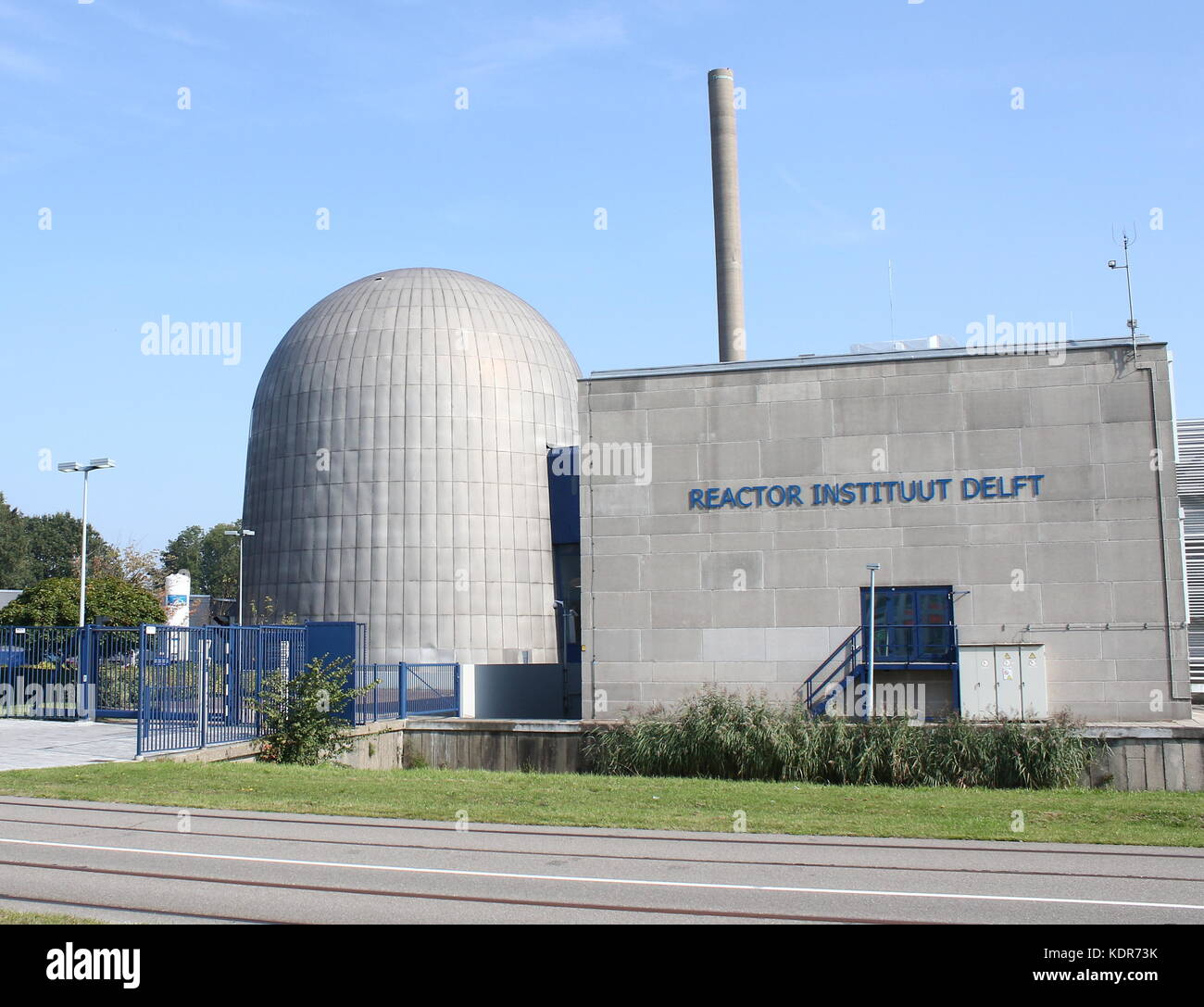 Reactor Institute Delft, nuclear research institute at the campus of Delft University of Technology in Delft, Netherlands - Stock Image