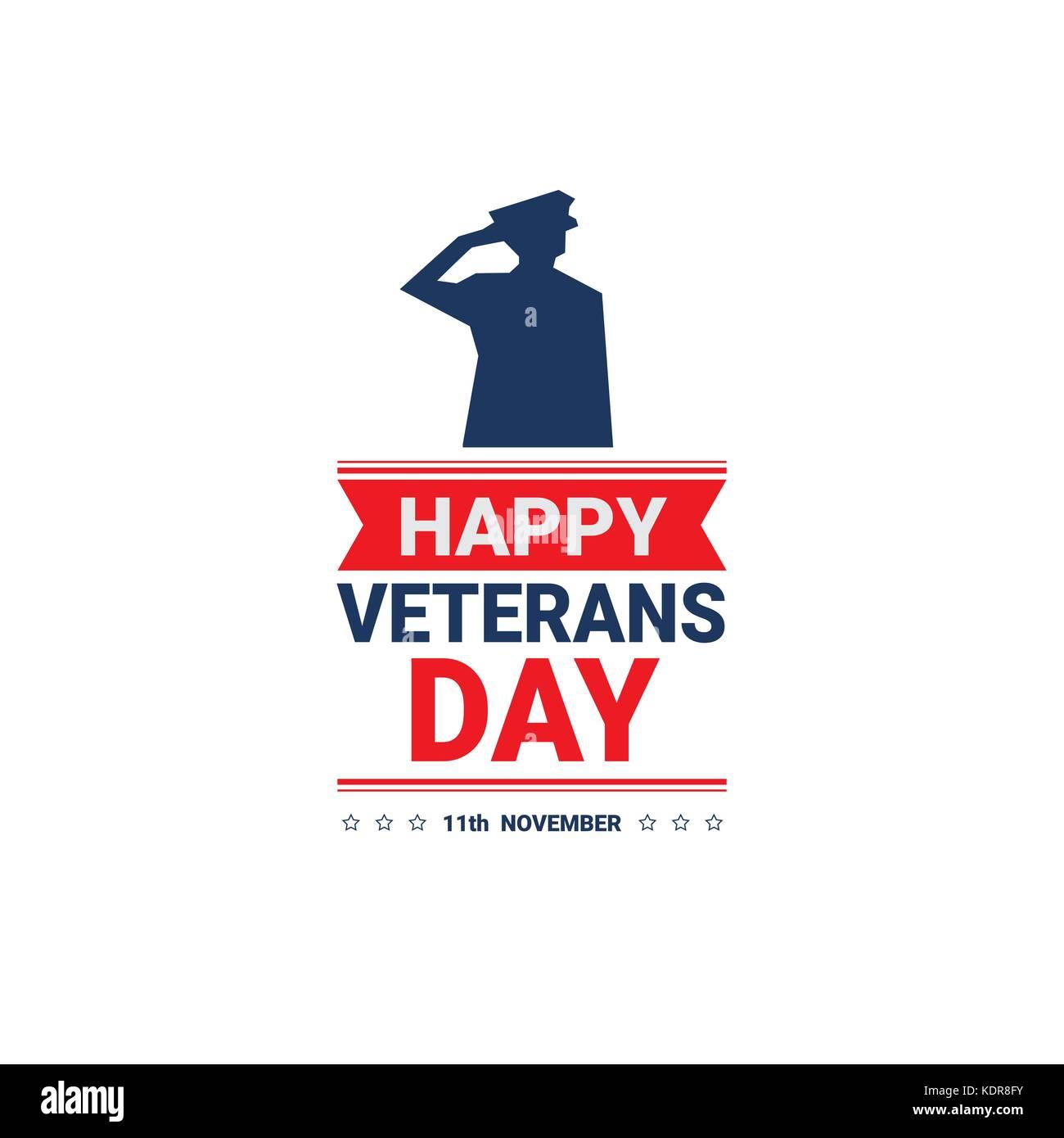 Veterans day celebration national american holiday icon greeting veterans day celebration national american holiday icon greeting card with usa flag m4hsunfo