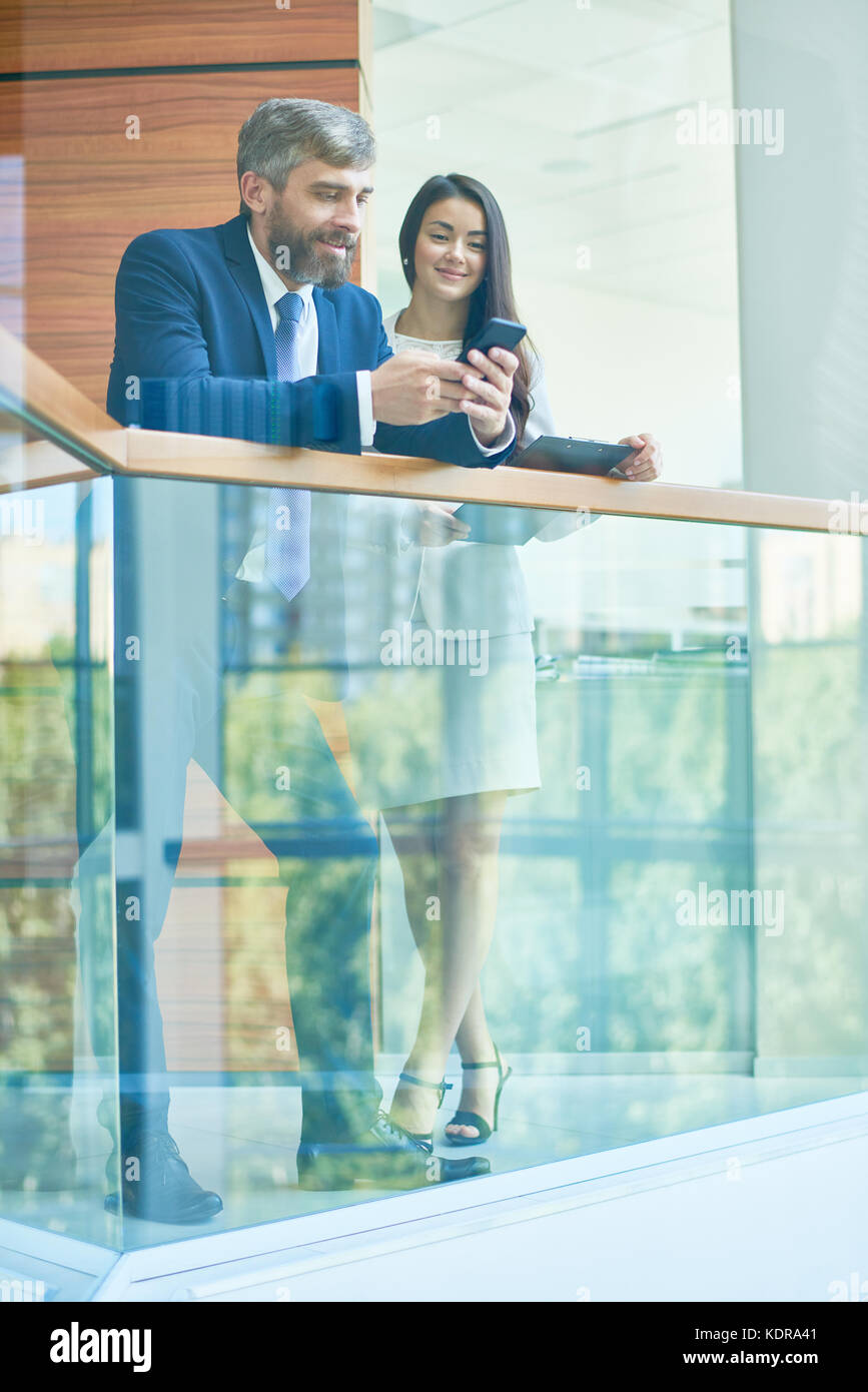 Waiting for Business Conference Beginning - Stock Image