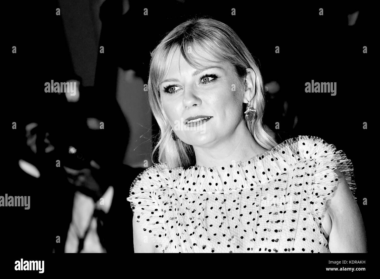American actress Kirsten Dunst attends the premiere for Woodshock during the 74th Venice Film Festival in Venice, - Stock Image