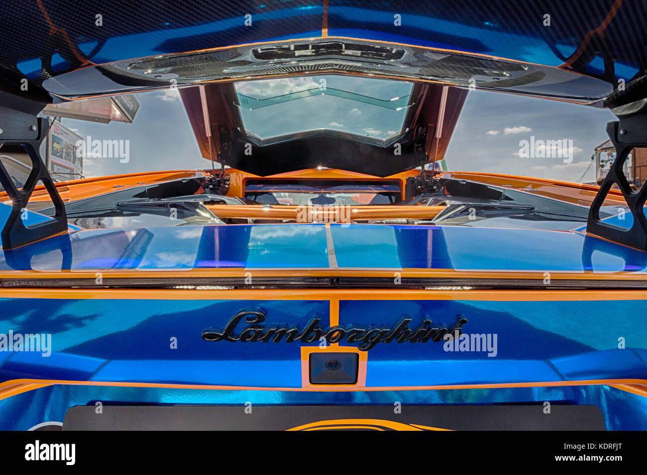 Lamborghini Rear Wing - Stock Image